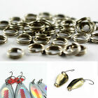 50/100 X Strong Stainless Steel Split Rings Connectors fishing Lures Baits