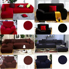 Washable Plush / Poly Stretch Fabric Sofa Couch Cover Protector For 1 2 4 Seater
