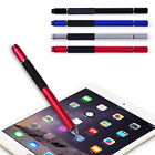 2 in 1 Capacitive Touch Screen Stylus Ballpoint Pen for iPhone iPad Phone Tab
