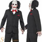Mens Saw Jigsaw Costume Official Puppet Halloween Fancy Dress Adult Outfit