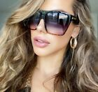 "XXL OVERSIZED ""Lauren"" Women Sunglasses Aviator Flat Top Square Shadz"