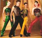 Dance Costume Livin It Up Foil Tap Choice Yellow or Green Child Small Halloween