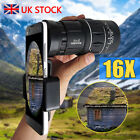 Universal 12X Zoom Clip On Mobile Phone Optical Camera Lens Telephoto Telescope