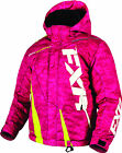 FXR Youth Electric Pink Digi/Hi-Vis Boost Insulated Snowmobile Jacket Snow