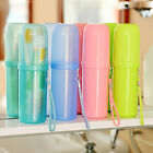 Hot ! Travel Toothbrush Case Cover Toothpaste Holder Storage Orangizer Box Cup