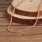 """2mmW 18K Rose Gold Necklace Women's & Men Rope Chain Link 16-24""""L"""
