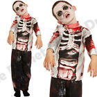 CHILDRENS KIDS BOYS ZOMBIE SKELETON WALKING DEAD HALLOWEEN FANCY DRESS COSTUME