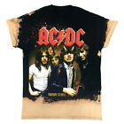 """Vintage Wear LA """"ACDC Highway to Hell"""" Custom Distressed Bleached Band Tee"""