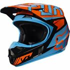2017 Fox MX Youth V1 Helmet - Falcon Black/Orange Kids Motocross Offroad Peewee