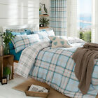 Catherine Lansfield Kelso Duckegg Blue Check Duvet Quilt Cover Bedding Set