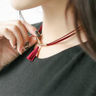 1 Pc Tassel Pendant Leather Choker Collar Necklace Fashion Jewelry Decoration
