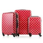 3 Pcs Suitcase Set Luggage Bag ABS +PC Trolley 4 Wheels Travel Spinner New G4B0