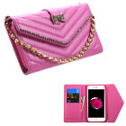 Leather Quilted Braclet Purse Wallet ID Card Slot Phone Case Apple iPhone 7 Plus