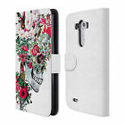 OFFICIAL RIZA PEKER SKULLS LEATHER BOOK WALLET CASE COVER FOR LG PHONES 1