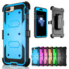 Armor Belt Clip Holster Built-in Screen Protector Case Cover for iPhone 7/7 Plus