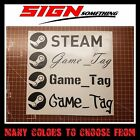 Large Steam Gamertag Decal / Sticker your username game tag gamer