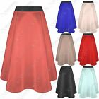 Xpose LADIES MID LENGTH SKATER SKIRT WOMEN FLARED SWING PENCIL LONG MIDI STRETCH