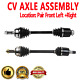 Front CV Joint Axle Shaft Pair Set For ACURA TL 2004-2006,HONDA ACCORD 2006-2007