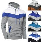 Outwear Sweatshirt Hoodie Coat Men Patchwork Jacket Sweater Casual Hooded Warm