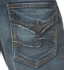 Silver Jeans Men Hunter Flap Relaxed Fit Straight Leg Inseam 30,32,34 Size 30-42