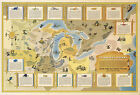 Pictorial Map Great Lakes Region Native American Indian Tribes Ta-Non-Ka's Print