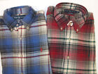 Polo Ralph Lauren LS Classic Fit Soft Heavy Cotton Shirt $89 Blue Red W Pony NWT