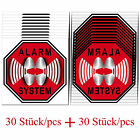 Sets STOP Alarm System Home Car Window Door Security Warning stickers mirrored
