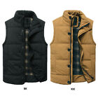 Men's Fashion Winter Warm Sleeveless Cotton Jacket Vest Waistcoat Zip Jacket New