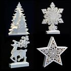 Christmas Light Up Room Decoration Battery Operated LED Festive White Ornament