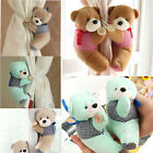 2X Fluffy Bear Curtain Tie Back Tiebacks Curtain Buckle for Child Kid Bedrooms J