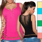 NEW SEXY LADIES FASHION SINGLET ribbed lacy TANK TOP sz XS S M GIRLS CASUAL WEAR