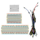 170/400/830 points Solderless Prototype PCB Breadboard +65pcs Jumper Leads Wires