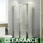 Bifold Door Shower Enclosure and Tray Free WasteSide Panel Glass Screen Cubicle