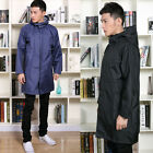 Hot Men Waterproof Black/Blue Long Sleeve Hoodie Raincoat Rainwear Poncho Coat