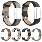 Fashion Genuine Leather Band Strap Bracelet Sports For Fitbit Charge 2 lot