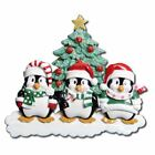 personalized family ornaments - PERSONALIZED CHRISTMAS ORNAMENTS-WINTER PENGUIN FAMILY