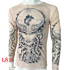 Xtreme Couture AFFLICTION Men T-Shirt PERSIMMON Skull Tattoo Biker UFC F