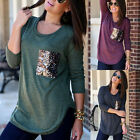 Women's Ladies Summer Loose Cotton Tops Long Sleeve Shirt Casual Blouse T-shirt