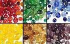 100 Czech Glass Faceted Round Beads Mix ~ Red Green Yellow Purple Blue OR Browns