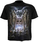 MENS 3D SKELETON HELL BLACK HALLOWEEN T SHIRT GRAPHIC DESIGN COSTUME NEW M L XL