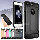 Shockproof Rugged Silicone Hard Case Cover for Apple iPhone 7 & iPhone 7 Plus