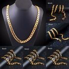 Women Collar Necklace 18K Gold Plated Snake Twist Chain Necklace 4/6/8MM Gift