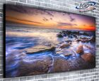 Ocean Mist Panoramic Canvas Print Modern Art 4 Sizes to Choose Ready to Hang