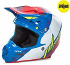 NEW 2017 FLY RACING F2 CARBON CANARD MX OFFROAD ADULT HELMET BLUE/WHITE/RED
