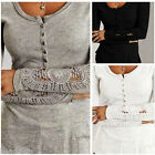 BD Fashion Women Lace Sleeve Casual Slim Shirt Long Sleeve Girl Blouse Tops