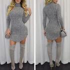 Sexy Women's Long Sleeve Bodycon Casual Party Evening Cocktail Mini Short Dress