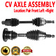 Front Pair CV Joint Axle Shaft for MERCURY MARINER Automatic Transmission