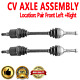 Front Pair CV Joint Axle Shaft for GMC ENVOY 02-09