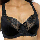 Black Bra Ladies Large Bosom Satin Lace Underwired Firm Control Plus Size Cup