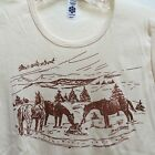 Holiday Horses Organic Cotton Long Sleeve T-shirt HORSE LOVER cowboy Christmas
